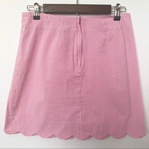 Lilly Pulitzer Skirts - Lilly Pulitzer Pink Gingham Scalloped Hem Skirt